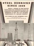 Lee C Moore Company 1936 Vintage Ad Oil Field Steel Derricks Rigs