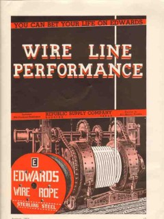 Republic Supply Company 1936 Vintage Ad Oil Field Edwards Wire Line