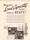 Hyatt Roller Bearing Company 1936 Vintage Ad Oil Field Load Capacity