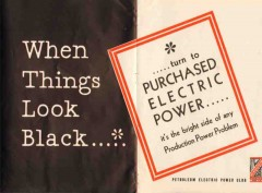 Petroleum Electric Power Club 1936 Vintage Ad Oil Purchased Production