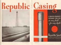 Republic Steel Corp 1936 Vintage Ad Oil Field Casing Iron Pipe Depth