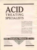 Chemical Process Company 1936 Vintage Ad Oil Acid Treating Specialists