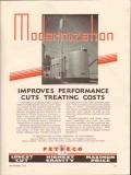 Petroleum Rectifying Company 1936 Vintage Ad Modernization Performance