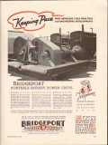 Bridgeport Machine Company 1936 Vintage Ad Portable Rotary Power Units