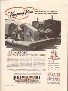 Bridgeport Machine Company 1936 Vintage Ad Portable Rotary Power Units