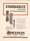 American Iron Machine Works 1936 Vintage Ad Oil Standardize Safe