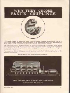 Bartlett Hayward Company 1936 Vintage Ad Fasts Self-Aligning Couplings