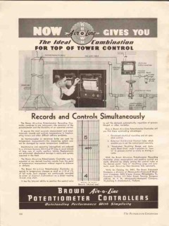 Brown Instrument Company 1936 Vintage Ad Record Control Simultaneously