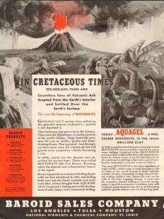 Baroid Sales Company 1936 Vintage Ad Oil Bentonite Aquagel Cretaceous
