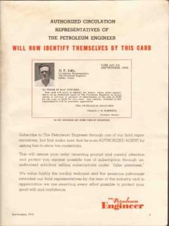 Petroleum Engineer 1936 Vintage Ad Agent O F Jolly Dallas TX Oil Media