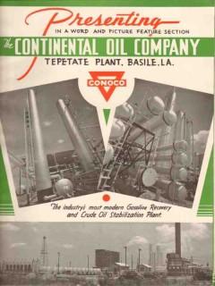 continental oil company 1936 conoco tepetate plant la vintage article