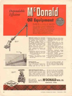 A Y McDonald Mfg Company 1956 Vintage Ad Oil Equipment Dependable