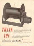 AMCO Corp 1956 Vintage Ad Ardmore Products Fuel Oil Hose Rewind Reels