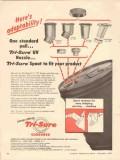 american flange mfg company 1956 tri-sure uv nozzle spout vintage ad