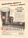 american flange mfg company 1956 tri-sure protect chemicals vintage ad
