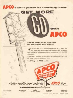 Anderson-Prichard Oil Corp 1956 Vintage Ad Go APCO Petroleum Products