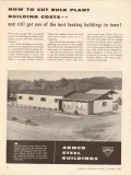 Armco Steel Corp 1956 Vintage Ad Oilfield Cut Bulk Plant Building Cost