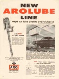 aro equipment corp 1956 arolube line lube profits garage vintage ad