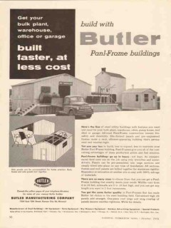 Butler Mfg Company 1956 Vintage Ad Oil Panl-Frame Building Less Cost
