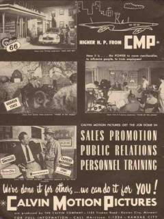 calvin company 1956 motion picture sales promotion training vintage ad