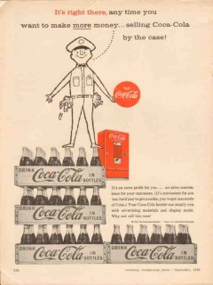 coca-cola company 1956 right there more money selling case vintage ad