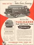 columbian steel tank company 1956 fueloader fuel oil truck vintage ad