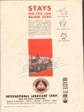International Lubricant Corp 1956 Vintage Ad Inlucite Stays Below Zero