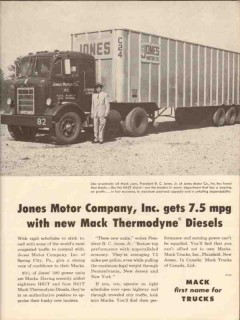 mack trucks 1956 jones motor company thermodyne diesels vintage ad
