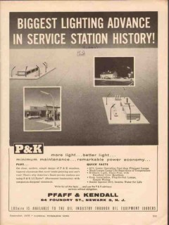 pfaff kendall 1956 luxaire lighting advance service station vintage ad