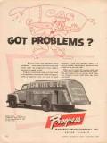 progress mfg company 1956 schaetzel oil co tank truck vintage ad