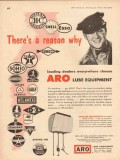 aro equipment corp 1957 choose aerolube oil grease lube vintage ad