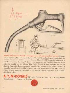 a y mcdonald mfg company 1957 mcdonalloy super nozzle gas vintage ad