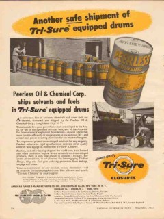 American Flange Mfg Company 1957 Vintage Ad Peerless Oil Chemical Corp