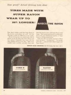 american viscose corp 1957 avisco tire rayon wear longer vintage ad
