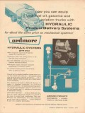 ardmore products 1957 hydraulic product delivery system vintage ad