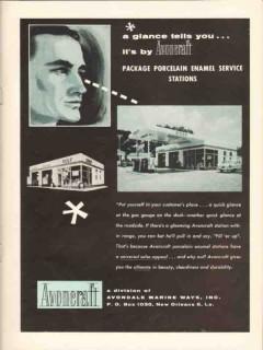 avondale marine ways 1957 glance avoncraft porcelain enamel vintage ad