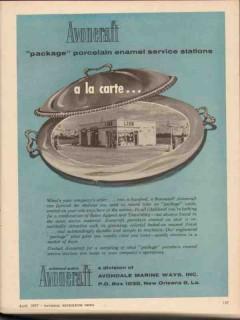 avondale marine ways 1957 porcelain enamel service station vintage ad