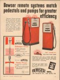 bowser inc 1957 remote systems pedestal pump efficiency vintage ad
