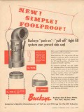 Buckeye Iron Brass Works 1957 Vintage Ad Simple Push-On Pull-Off Fill