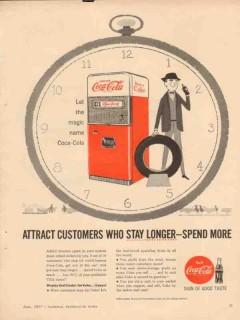 coca-cola company 1957 customers stay service station coke vintage ad