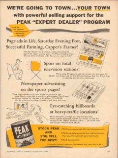 commercial solvents corp 1957 peak anti-freeze town dealer vintage ad
