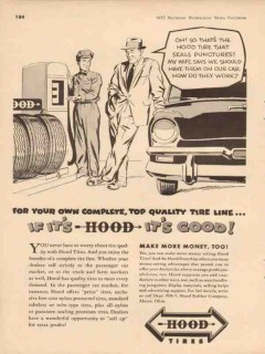 hood rubber company 1957 complete quality tire line vintage ad