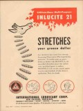 International Lubricant Corp 1956 Vintage Ad Inlucite Grease Stretches