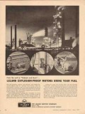 Leland Electric Company 1957 Vintage Ad Explosion-Proof Motors Fuel
