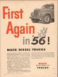 mack trucks 1957 first again 56 landslide thermodyne diesel vintage ad