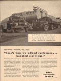 mack trucks 1957 lawrence j bennett garden city ny oil vintage ad
