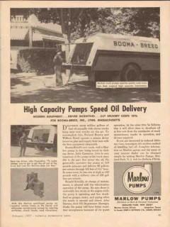 bell gossett company 1957 booma-breed lynn ma oil trucks vintage ad