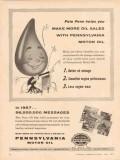 Pennsylvania Grade Crude Oil Assoc 1957 Vintage Ad More Sales Benefits