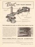 philadelphia valve company 1957 best adjustable hose guides vintage ad