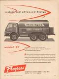progress mfg company 1957 george c peterson co tank truck vintage ad